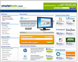 Click on the SmarterBucks Deals icon at the bottom right of your dashboard